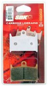 BRAKE PADS - CARBON LORRAINE SBK5 FRONTS - PER CALLIPER SET